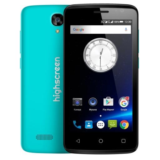 Highscreen Easy F PRO light blue - (; GSM 900/1800/1900, 3G; SIM-карт 2 (обычная+micro SIM); MediaTek MT6580, 1300 МГц; RAM 1 Гб; ROM 8 Гб; 1700 мАч; 5 млн пикс., светодиодная вспышка; есть, 0.3 млн пикс.; датчики - освещенности)