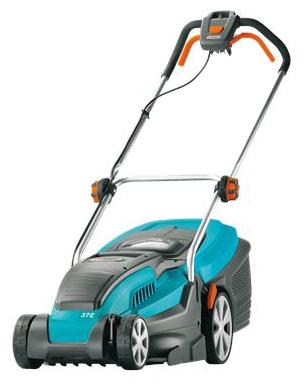Gardena PowerMax 37 E - колесная газонокосилка; нож; ширина скашивания 37 см • Двигатель: электрический, 1600 Вт • Питание - бытовая