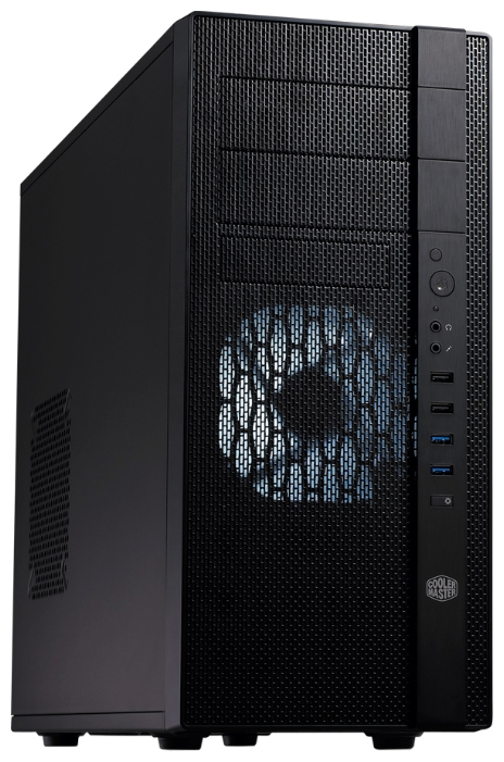 "Cooler Master N400 (NSE-400-KKN1) w/o PSU Black - Middle Tower • ATX, mATX • БП нет • Отсеки: 5.25""-2, 3.5""(внеш)-1; 3.5""(внутр)-7"