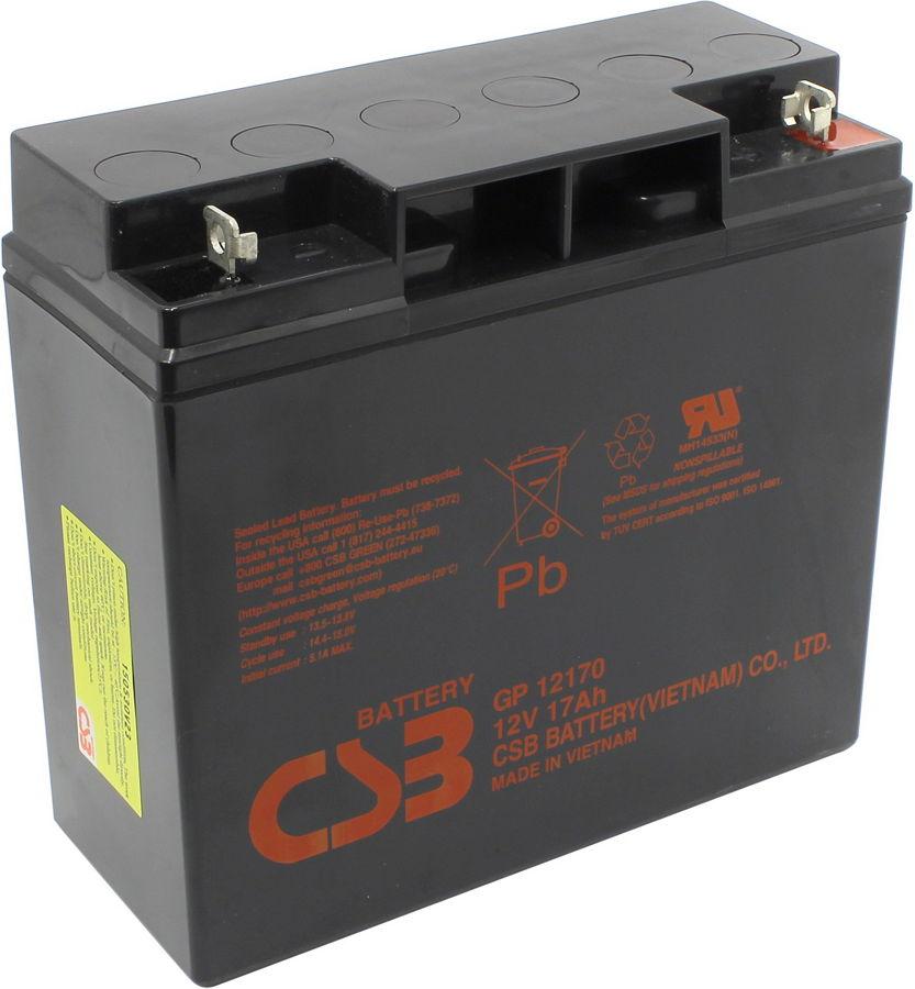 CSB GP 12170 - (12 В; 17 Ач • необслуживаемый свинцово-кислотный аккумулятор для ИБП)