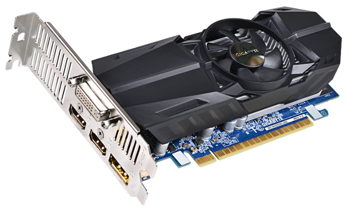 Gigabyte GV-N75TOC-2GL (GeForce GTX 750Ti, 2GB, DVI-I, 2xHDMI, DP, Low profile) - NVIDIA GeForce GTX 750 Ti, 28 нм, 1033 МГц, 2048