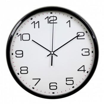 Часы настенные Бюрократ WallC-R07P, black WALLC-R07P/BLAC