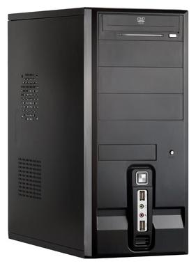 """ExeGate CP-506 500W, black - Midi-Tower • ATX • БП 500 Вт • Отсеки: 5.25""""-4, 3.5""""(внеш)-1; 3.5""""(внутр)-4; 152295"""