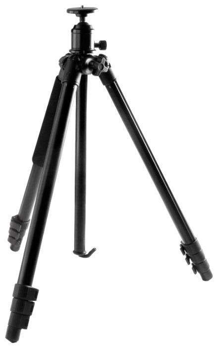 Rekam RTM-150 black - трипод напольный, от 49 до 146.5 см, можно использовать как монопод, максимальная высота съемки монопода 136