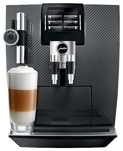 Jura Impressa J95 Carbon - эспрессо, автоматическое приготовление; кофе - молотый / зерновой; нагреватель - термоблок; резервуар 2