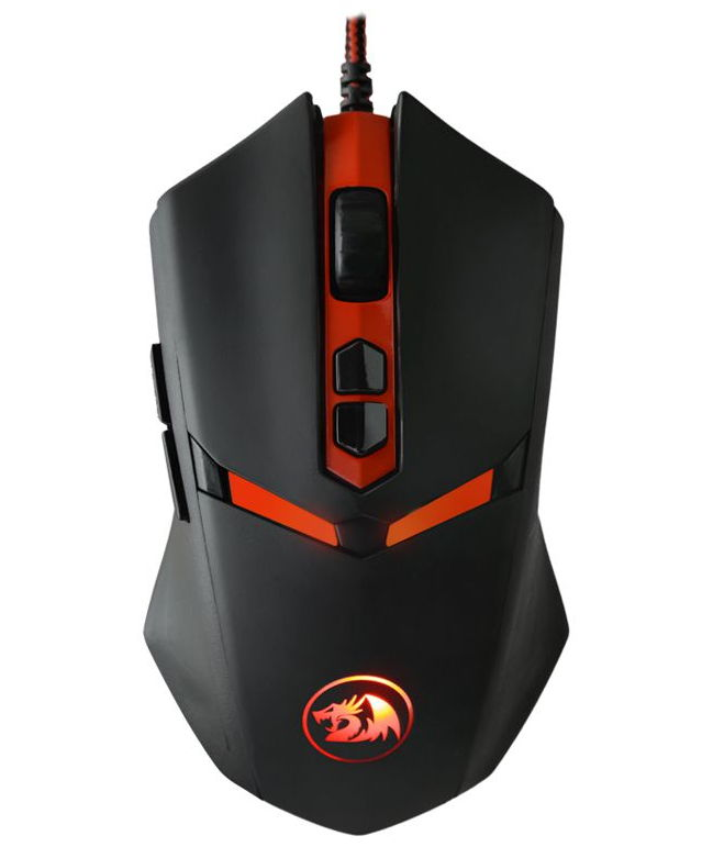 Мышь Defender Redragon Nemeanlion, USB, Black red 70437