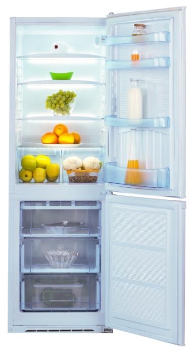 Nord NRB 120 032 White - (холодильник с морозильником, 303 л (клим.класс N, ST), отдельно стоящий, компрессоров 1, камер 2, дверей 2. Хол-ник 230 л (разм. капельная система). Мор-ник 73 л, внизу (разм. ручное). ШГВ 57.4x62.5x193.5 см. Управление электромеханическое. Энергопотр-е класс A+. белый / пластик/металл)
