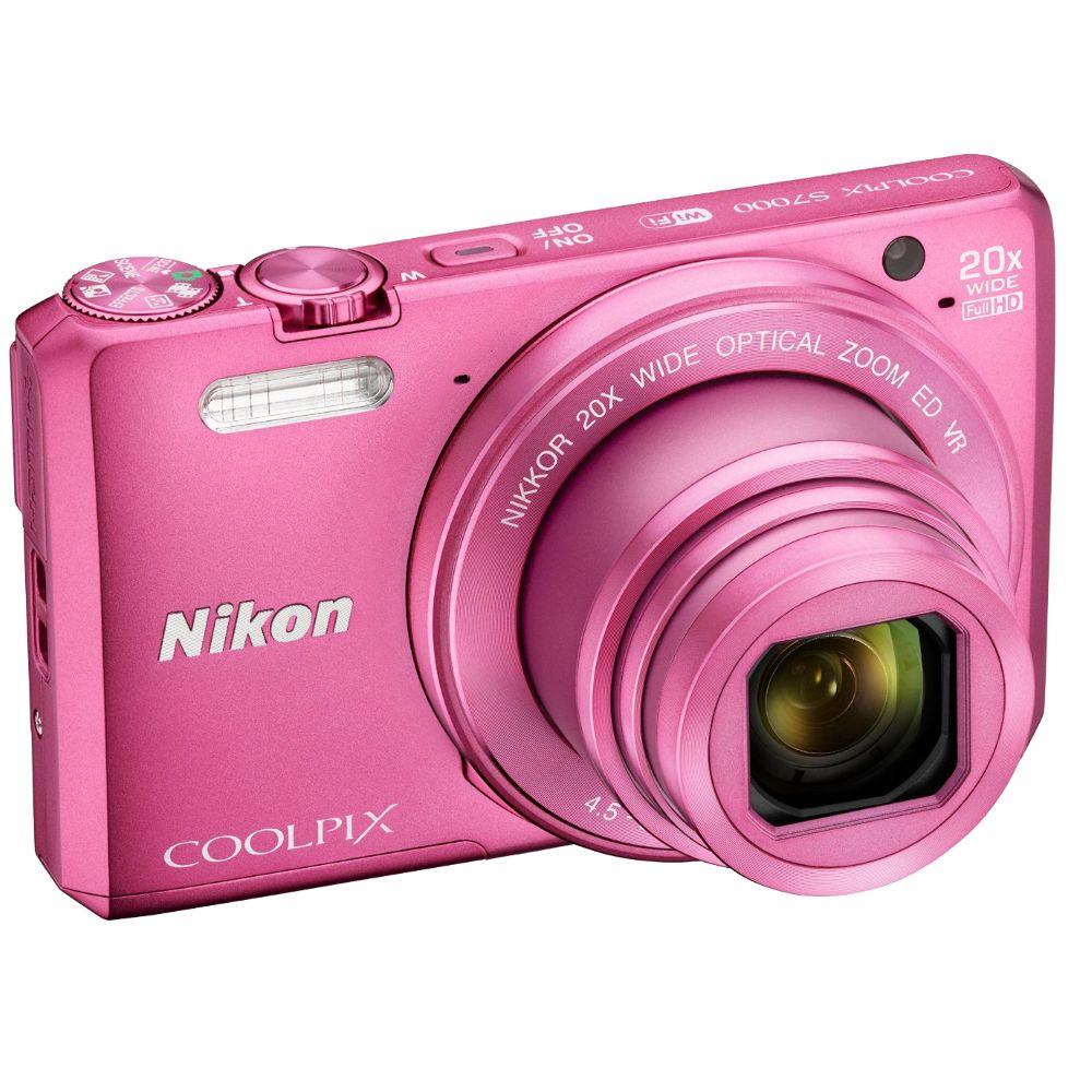 Фотоаппарат Nikon Coolpix S7000, pink VNA803E1