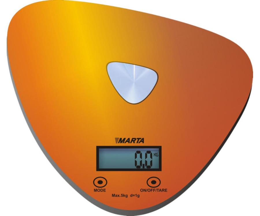 Весы кухонные Весы Marta MT - 1632 золотистые/блестящие MT-1632 золото/блестящий
