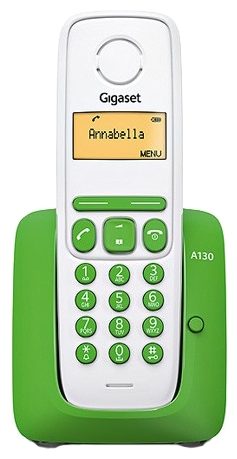 Радиотелефон Gigaset A130 Green-White S30852-H2414-S306