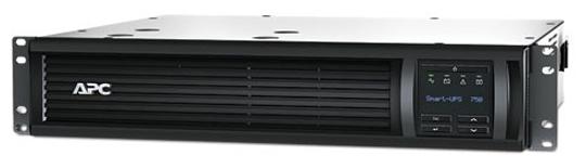 APC by Schneider Electric Smart-ups 750VA LCD RM 2U 230V - интерактивный; 750 ВА / 500 Вт; в среднем 16.4 мин; вход 160 - 286 В; розеток