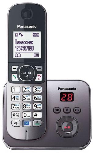Радиотелефон Panasonic KX-TG6821, Grey Metallic KX-TG6821RUM