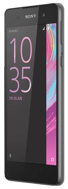 Sony Xperia E5, Black - (; GSM 900/1800/1900, 3G, 4G LTE, LTE-A Cat. 4; SIM-карт 1 (nano SIM); MediaTek MT6735, 1300 МГц; RAM 1.50 Гб; ROM 16 Гб; 2300 мАч; 13 млн пикс., светодиодная вспышка; есть, 5 млн пикс.)