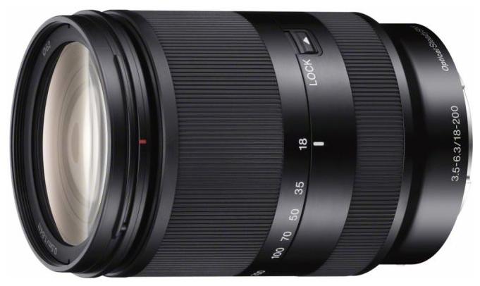 Sony 18-200mm f/3.5-6.3 E LE (SEL-18200LE) - (телеобъектив Zoom; ФР 18 - 200 мм; ZOOM 11.1x; F3.50 - F6.30 • Автофокус есть. Макрорежим есть. • Неполнокадровый да)