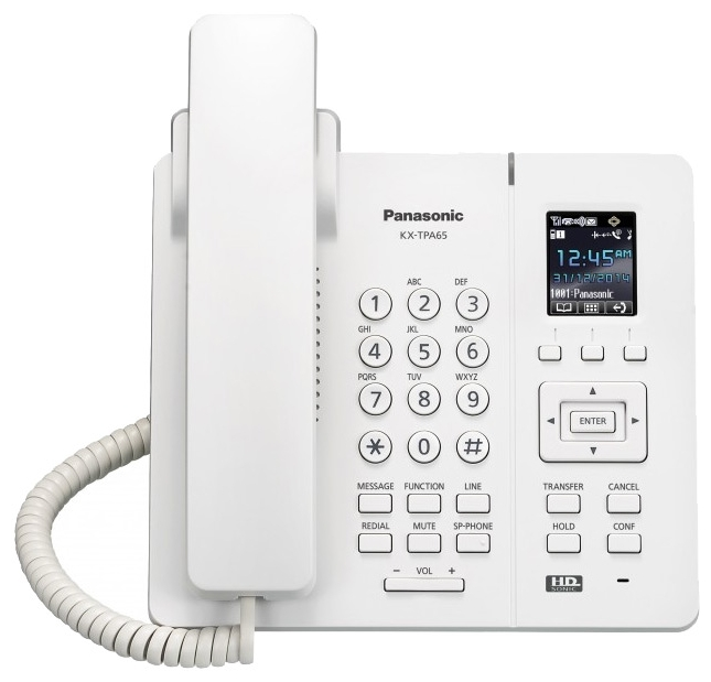 VoIP-телефон Panasonic KX-TPA65RU, есть определитель номера