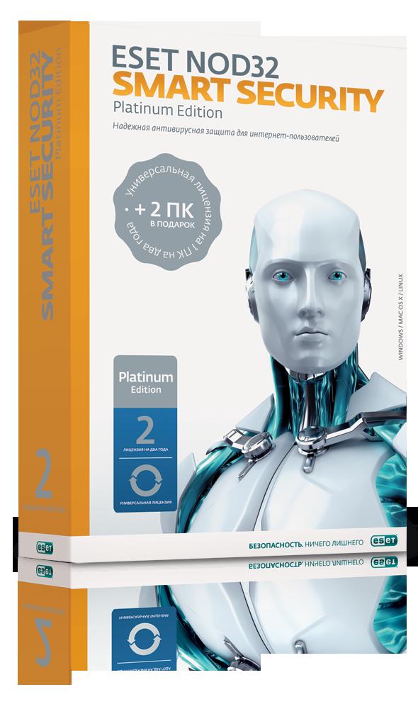 ��������� ESET NOD32 Smart Security Platinum Edition BOX