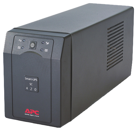 APC Smart-UPS SC 420VA 230V - интерактивный; 420 ВА / 260 Вт; в среднем 13.5 мин; вход 151 - 302 В; розеток 4 (из них с питанием от