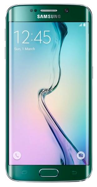 Samsung Galaxy S6 Edge 32Gb Green Emerald - (Android 5.0; GSM 900/1800/1900, 3G, LTE; SIM-карт 1 (nano SIM); Samsung Exynos 7420; RAM 3 Гб; ROM 32 Гб; 2600 мАч; 16 млн пикс., светодиодная вспышка; есть, 5 млн пикс.; датчики - освещенности, приближения, гироскоп, компас, барометр, считывание отпечатка пальца)