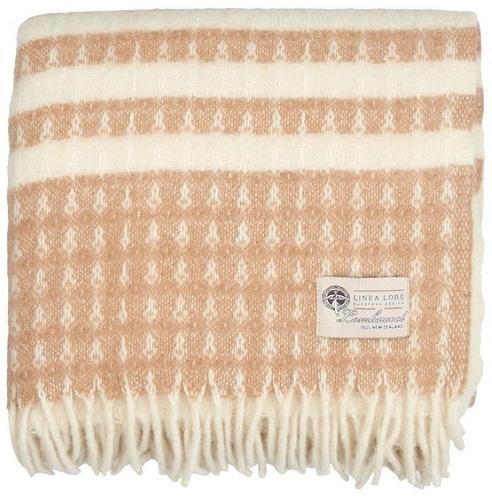 Плед Linea Lore Bello white-beige 1-791-140-01