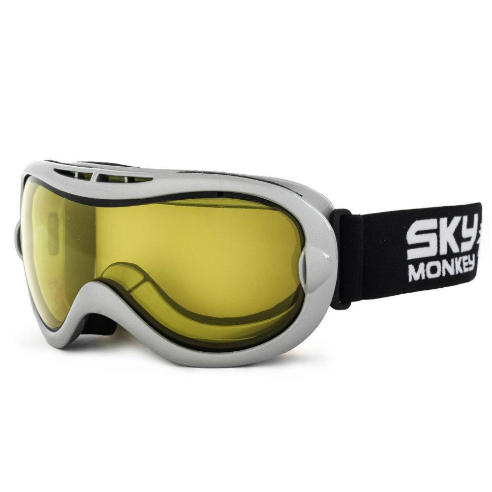 Очки горнолыжные Sky Monkey SR24 YL (VSE10) серебро N/S