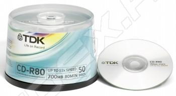 CD-диск CD-R TDK 700Mb 52x Cake Box