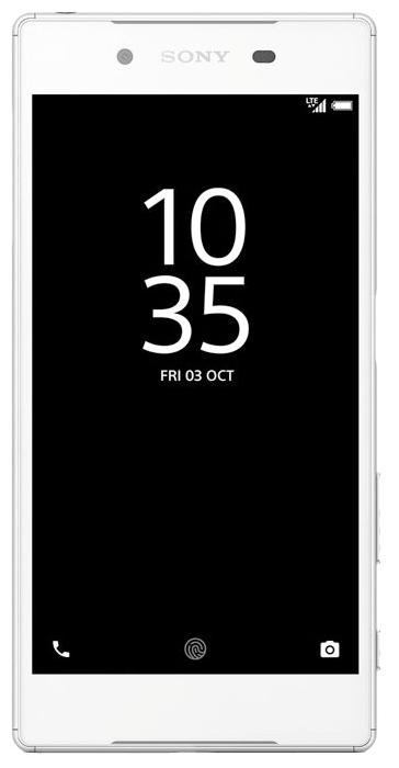 Sony Xperia Z5 E6653 White - (; GSM 900/1800/1900, 3G, 4G LTE, LTE-A Cat. 6; SIM-карт 1 (nano SIM); RAM 3 Гб; ROM 32 Гб; 2900 мА?ч; 23 млн пикс., светодиодная вспышка; есть, 5 млн пикс.; датчики - считывание отпечатка пальца)