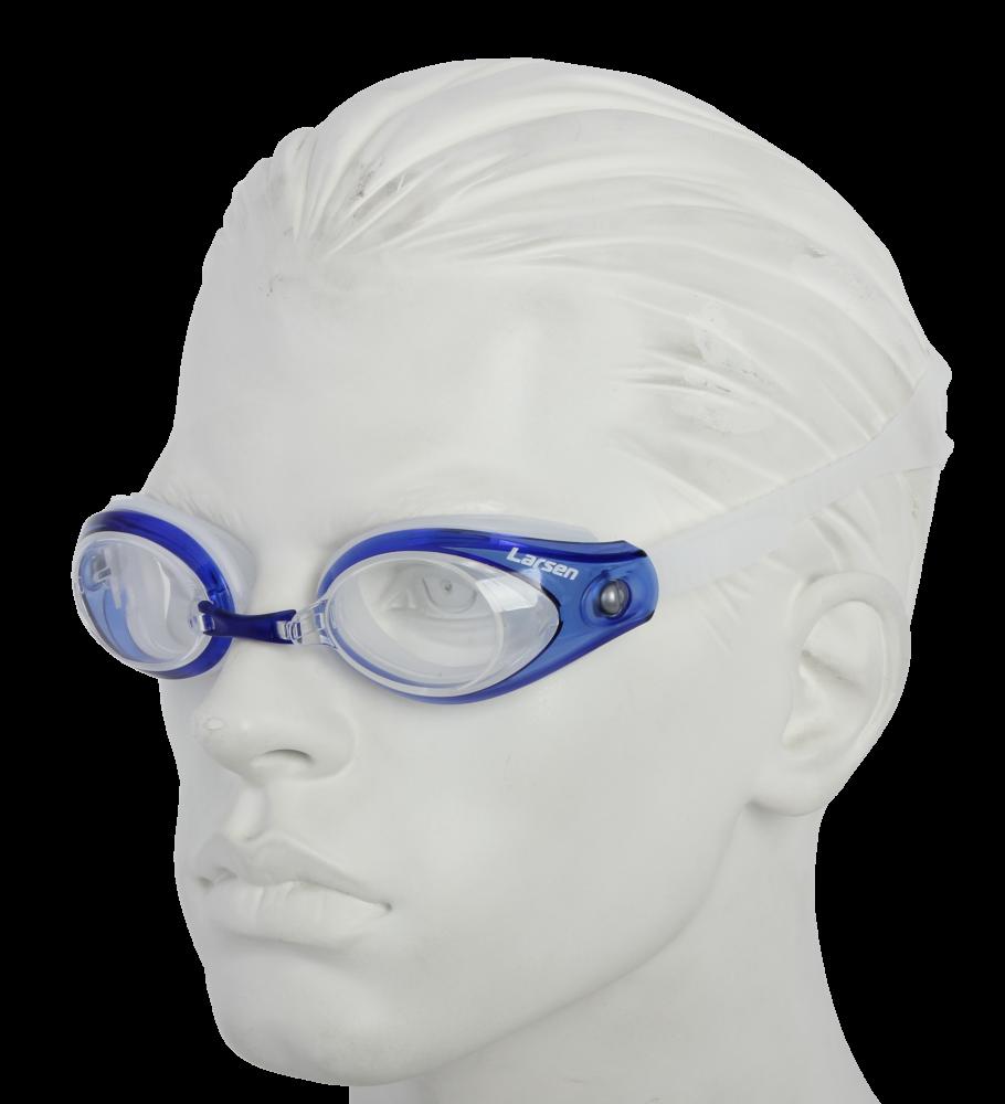 Очки плавательные Larsen R42 прозрачный/синий (силикон)