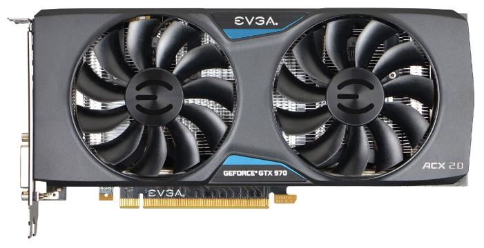 Видеокарта EVGA GeForce GTX 970 1165Mhz PCI-E 3.0 4096Mb 7010Mhz 256 bit 2xDVI HDMI HDCP (04G-P4-2974-KR)