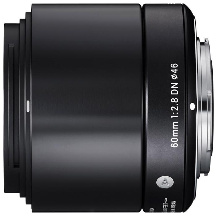 Sigma AF 60mm f/2.8 DN/A для Sony E (NEX) Black - (телеобъектив; ФР 60 мм; F2.80 • Автофокус есть. • Неполнокадровый да)