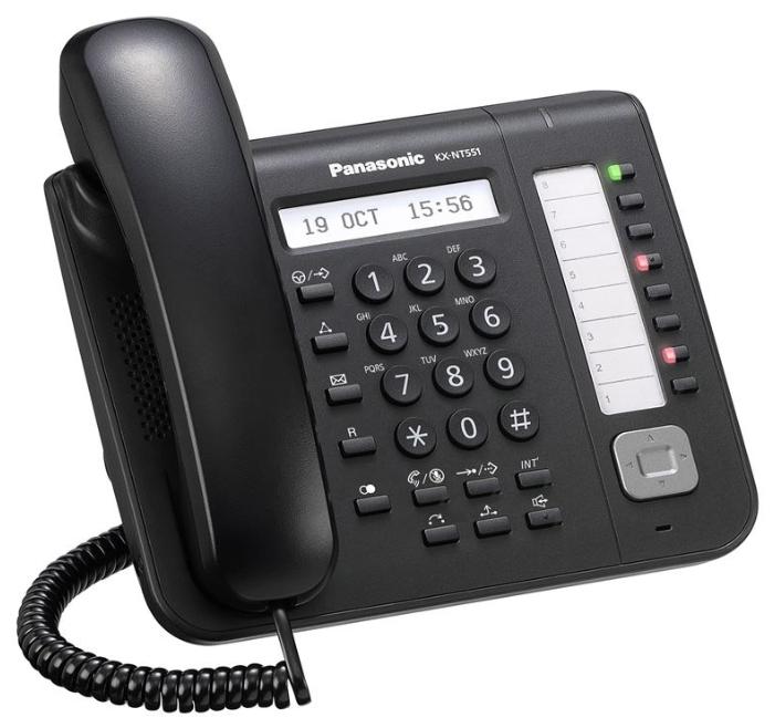 VoIP-телефон Panasonic KX-NT551RU-B black, WAN, LAN, Gigabit LAN, есть определитель номера