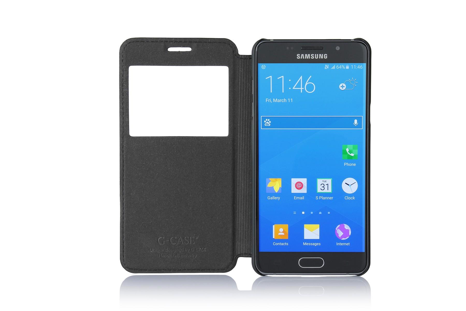 �����-������ G-case Slim Premium ��� Samsung Galaxy A5 (2016) black GG-677