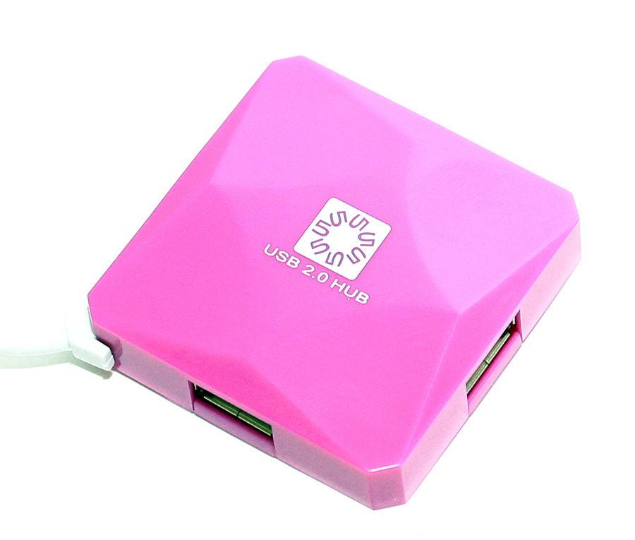 USB-хаб 5bites 4 порта USB2.0 (HB24-202PU) Purple