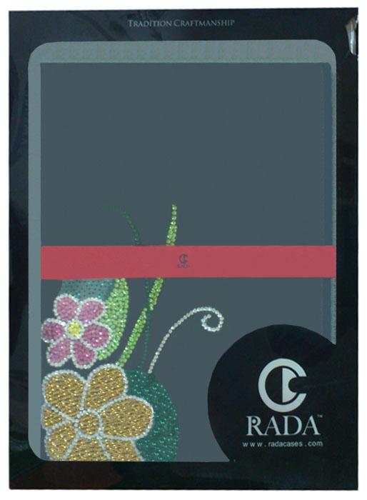 Футляр - книга Rada Flower для iPad 2/3 Black