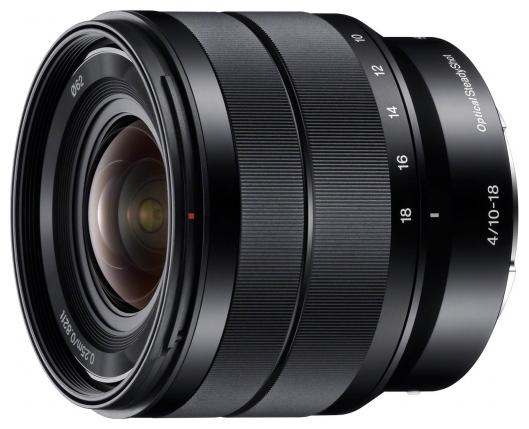 Sony SEL-1018 (E 10-18 мм F4 OSS) - широкоугольный Zoom; ФР 10 - 18 мм; ZOOM 1.8x; F4 • Автофокус есть. • Неполнокадровый да SEL1018