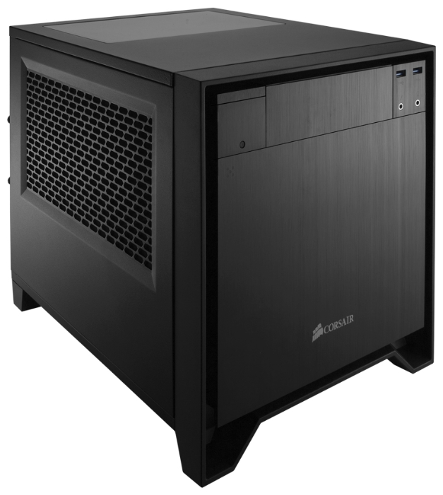 "Corsair Obsidian 250D Black w/o - Mini-Tower • Mini-ITX • БП нет • Отсеки: 5.25""-1, 3.5""(внутр)-2; CC-9011047-WW"