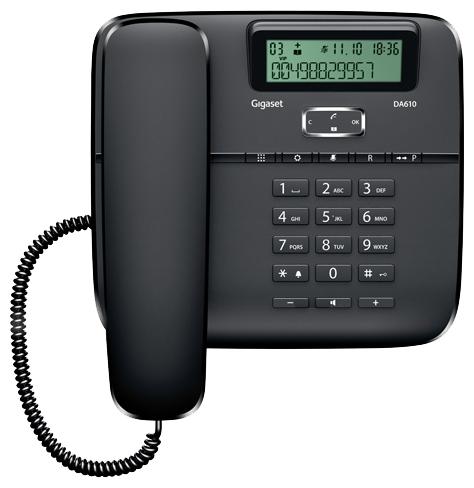 Проводной телефон Gigaset DA610, Black S30350-S212-S301