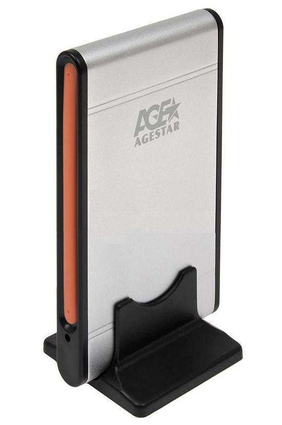Корпус для жесткого диска AgeStar SUB2A1 (miniUSB2.0b), Silver SUB2A1 SILVER