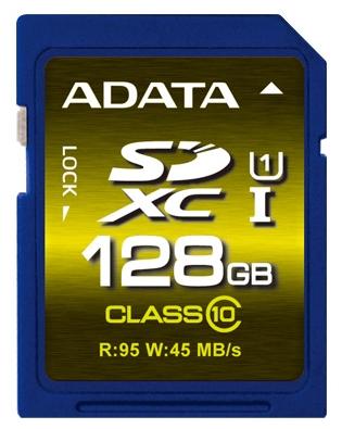 ����� ������ ADATA Premier Pro SDXC Class 10 UHS-I U1 128GB