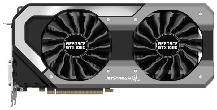 Palit GeForce GTX 1080 Super JetStream (8Gb GDDR5X, DVI-D + HDMI + 3xDP) - NVIDIA GeForce GTX 1080, 16 нм, 1708 МГц, 8192 Мб GDDR5X@10000