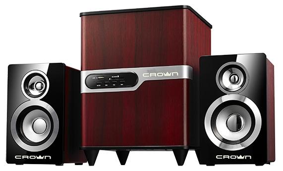 Crown CMS-440 wood - 31 Вт; 40-20000 Гц; USB для флэшки есть; корпус - дерево; корпус - дерево; питание от бытовой электросети
