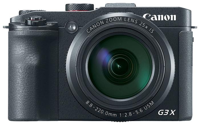 Canon Power Shot G3 X Black - (20.9 млн, оптический zoom: 25x, 1920x1080, 5.9 кадр./сек, ЖК-экран: поворотный, сенсорный, 1620000 точек, 3.20 дюйма)