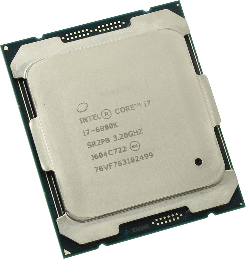 Intel Core i7-6900K Broadwell-E (3200MHz, LGA2011-3, L3 20480Kb), OEM - LGA 2011-v3; Broadwell-E; ядер 8; потоков 16; 14 нм; 3200 МГц