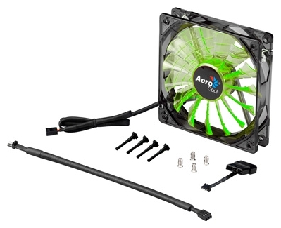 Вентилятор корпусной AeroCool Shark Fan Evil, 12cm, зелёный 4710700955697