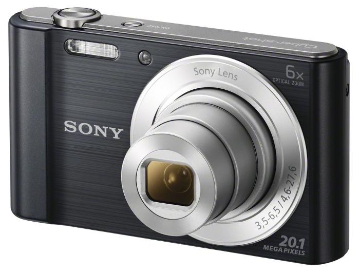 Sony Cyber-shot DSC-W810 Black - (20.4 млн, оптический zoom: 5x, 1280x720, 0.52 кадр./сек, 230400 точек, 2.70 дюйма)