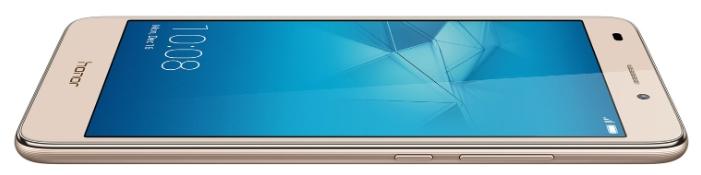 Huawei Honor 5С (NEM-L51), gold - (; GSM 900/1800/1900, 3G, 4G LTE, LTE-A Cat. 4; SIM-карт 2 (nano SIM); HiSilicon Kirin 650; RAM 2 Гб; ROM 16 Гб; 3000 мАч; 13 млн пикс., светодиодная вспышка; есть, 8 млн пикс.; датчики - освещенности, приближения, компас)