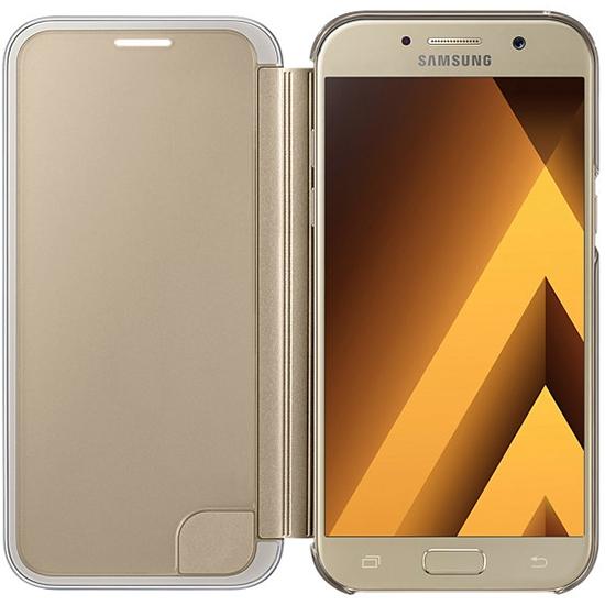 Чехол-книжка Samsung для Samsung Galaxy A7 (2017) Clear View Cover, golden