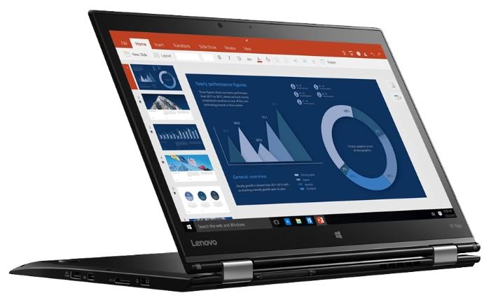 Lenovo ThinkPad X1 Yoga (20FRS0SD00), Black - (Intel Core i7 6500U 2500 МГц. Экран 14 дюймов, 2560x1440, широкоформатный, сенсорный, мультитач TFT IPS. ОЗУ 8 Гб LPDDR3 1866 МГц. Накопители SSD 512 Гб; DVD нет. GPU Intel HD Graphics 520. ОС Windows 10)