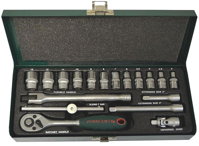 Набор инструментов Jonnesway S04H2118S, 18 предметов