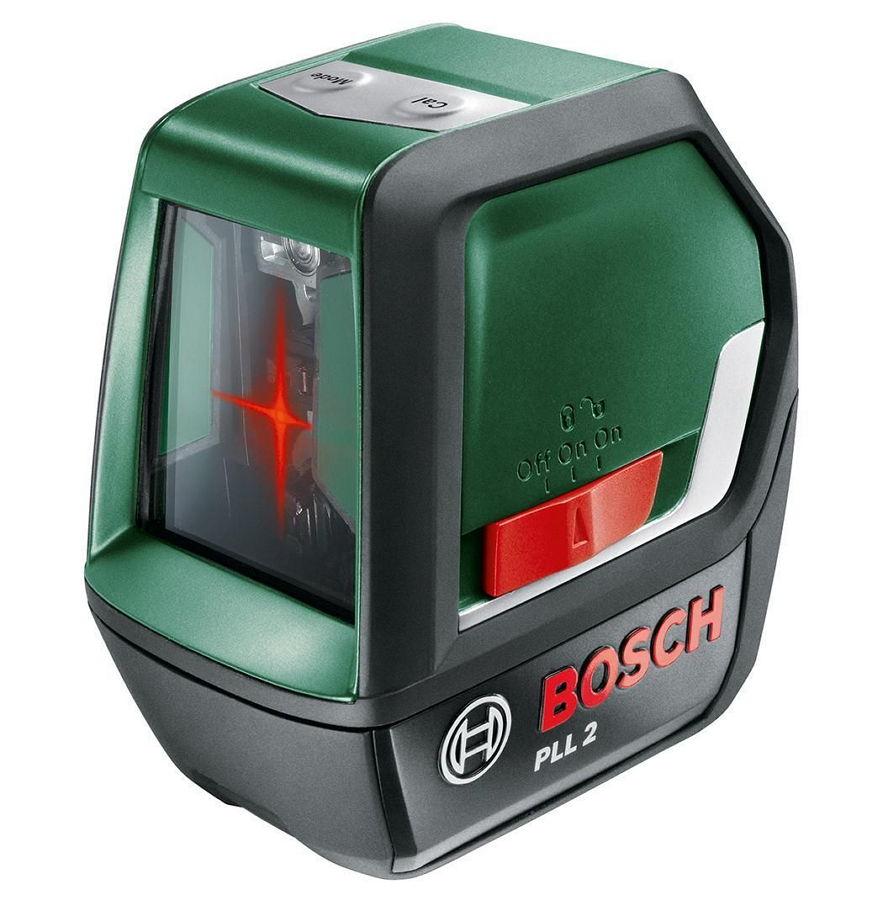 Bosch PLL 2 - Лазерный нивелир с функциями угломера и уровня; 10 м; лучей 2; выравнивание ручное и автоматическое 603663420