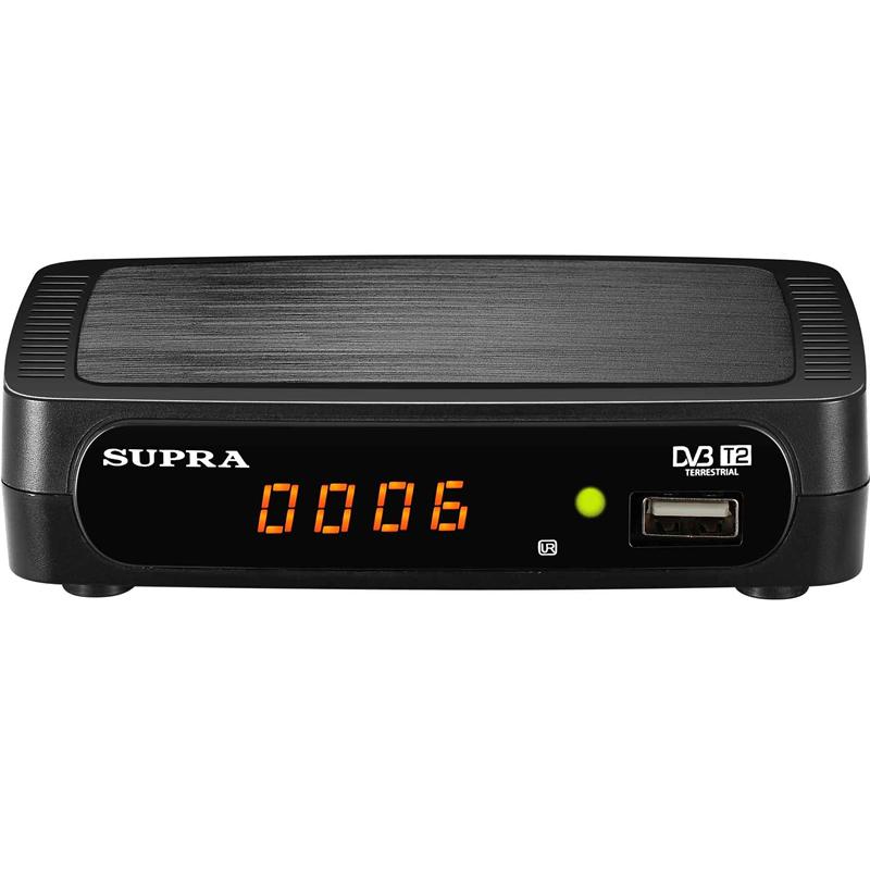 Supra SDT-85 black - Исполнение внешнее; автономный; DVB-T, DVB-T2; HD - 720p, 1080i, 1080p; видеозахват - нет; пульт ДУ - есть • Формат